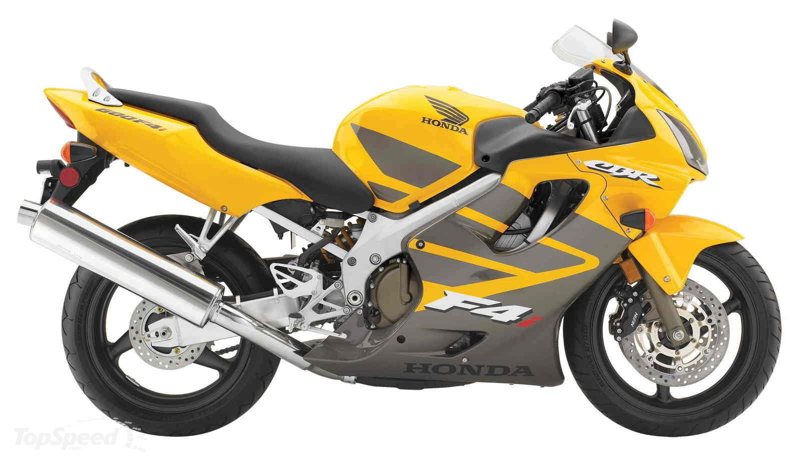 A yellow Honda CBR600F4i. The best one to buy used!