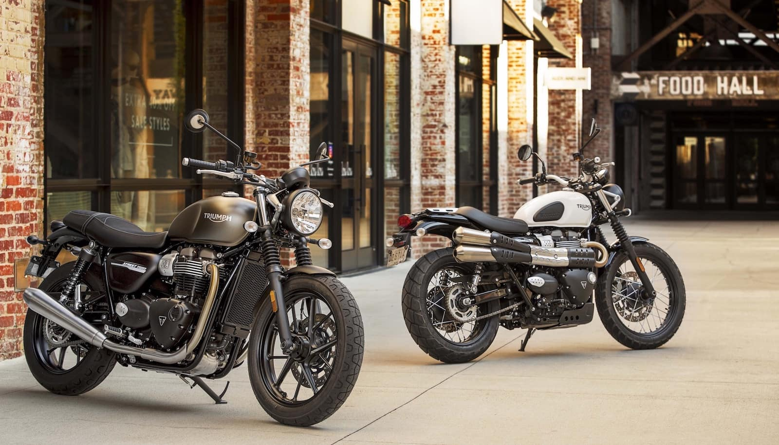 Triumph Street Win and Street Scrambler - extremely attractive motorcycles