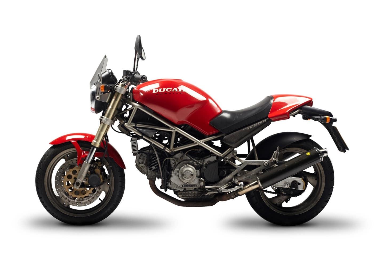 1994 Ducati Monster M900 with gold trellis frame