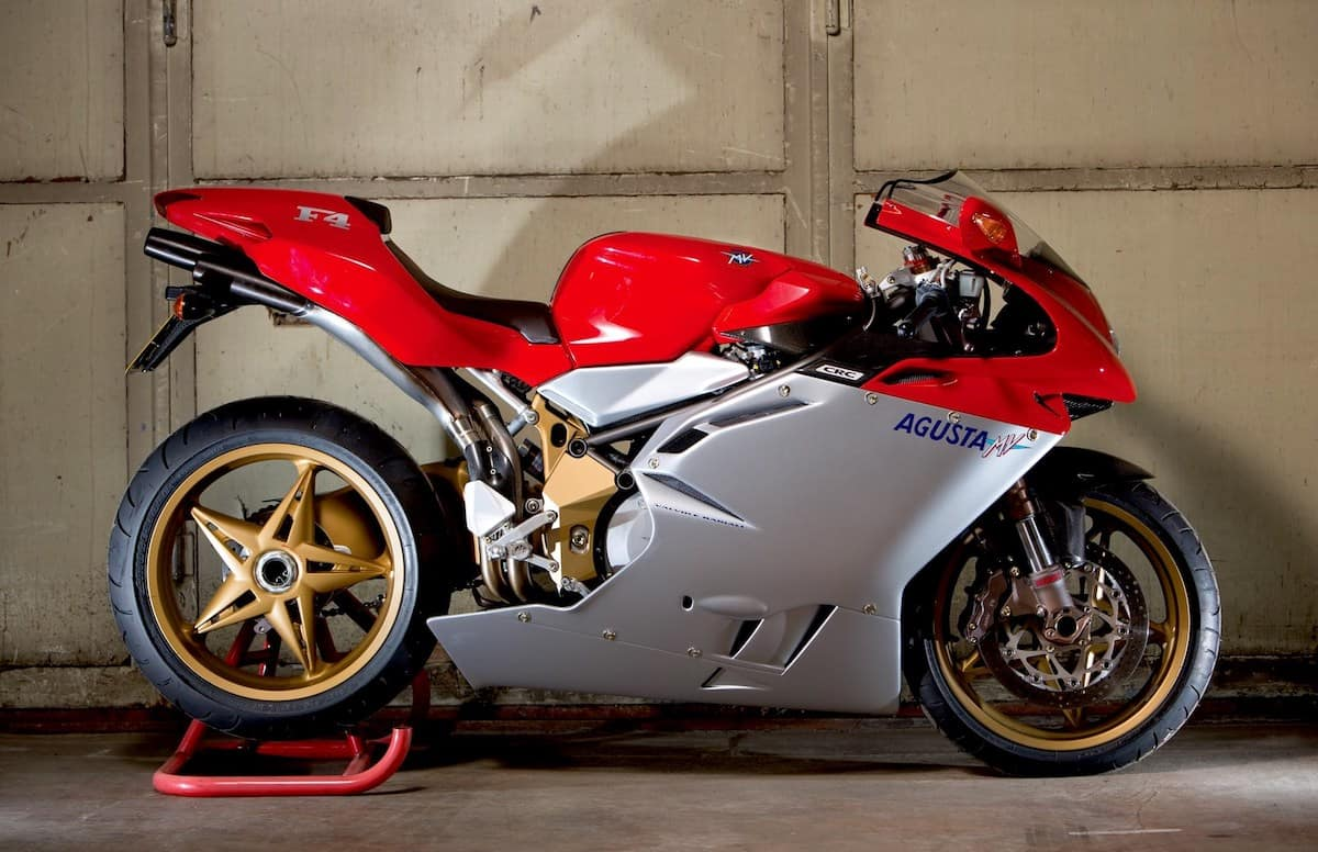 The MV Augusta F4 was inspired by the Ducati 916, and designed by the same person, Massimo Tamburini