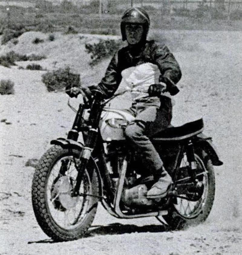 Steve McQueen on a Scrambler er I mean Bonneville. Popular Science photo