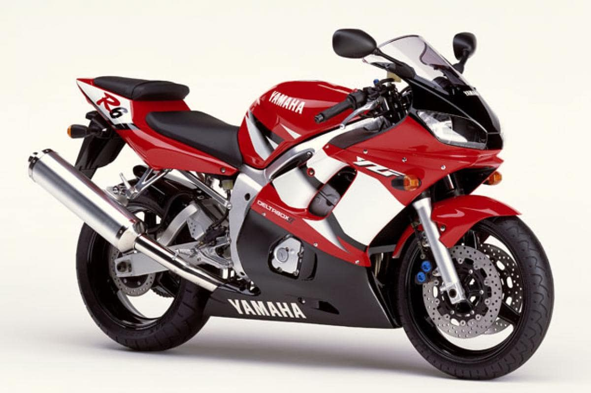 Red, second generation, used Yamaha R6