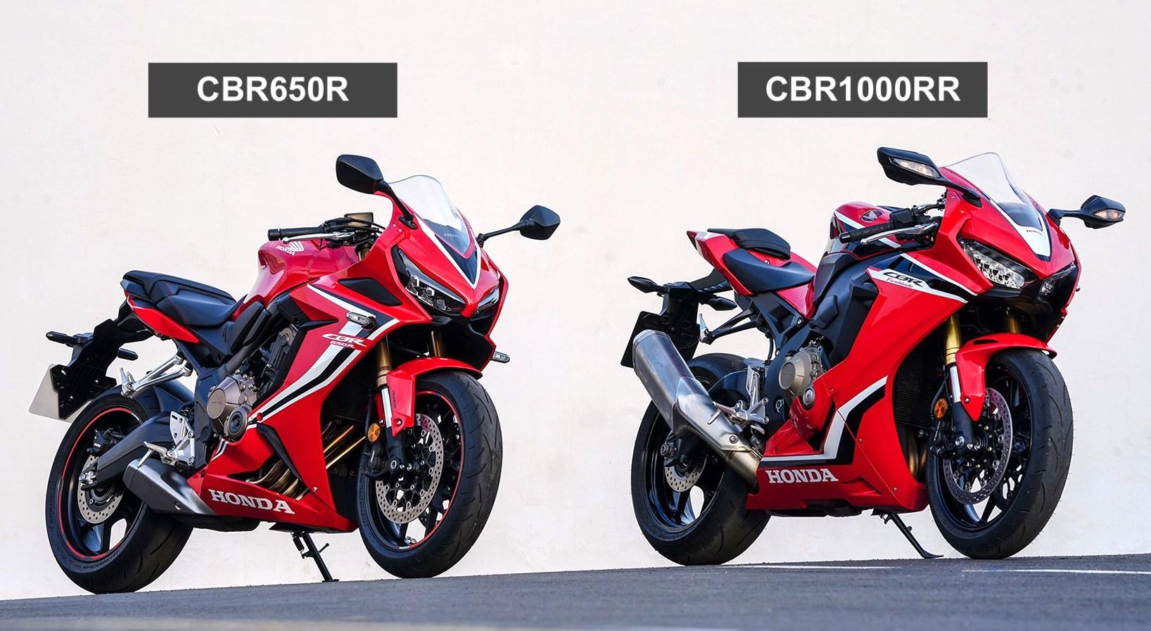 CBR650R Aesthetics compared to CBR1000RR