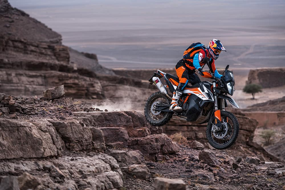 KTM 790 Adventure R - more powerful, lighter, and more expensive than the Yamaha Ténéré 700