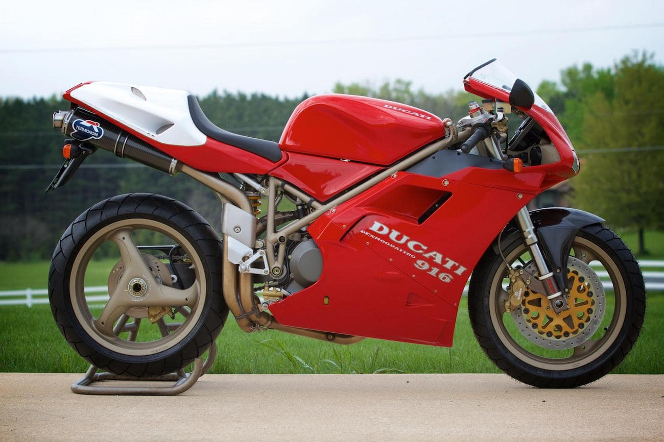 A Ducati 916 SPA, AKA 955cc engine - very limited edition Ducati superbike