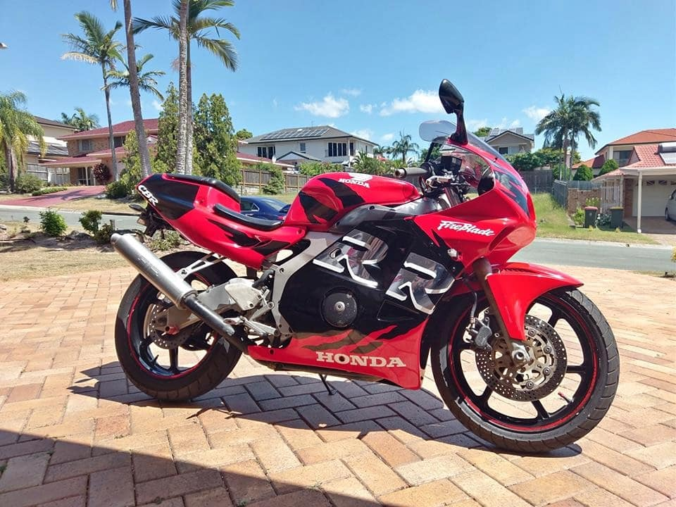 Brisbane, Australia, track day motorcycles - this is a Honda CBR250RR
