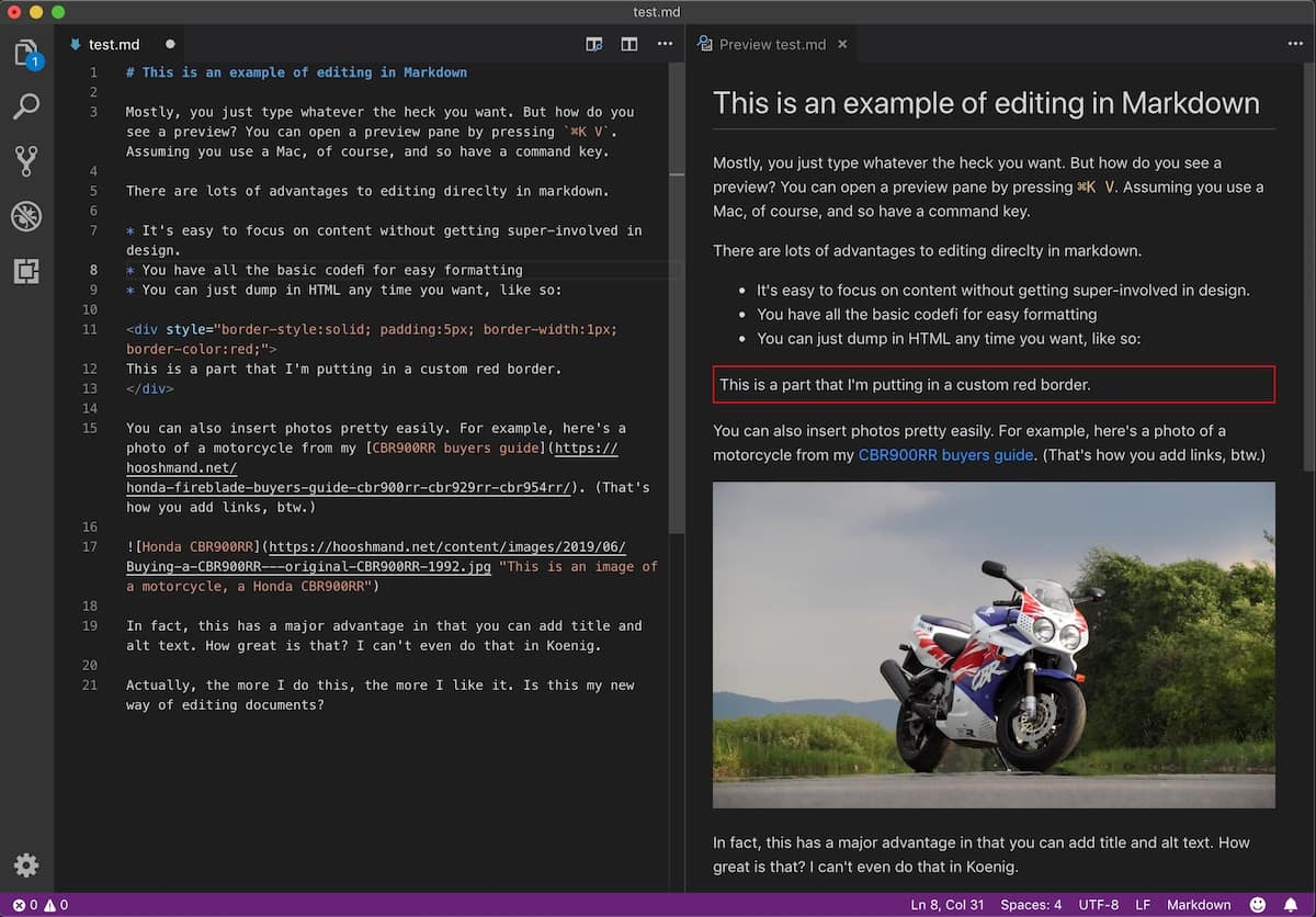 Website builders vs the JAMstack - the markdown editor for is one way of editing JAMstack content