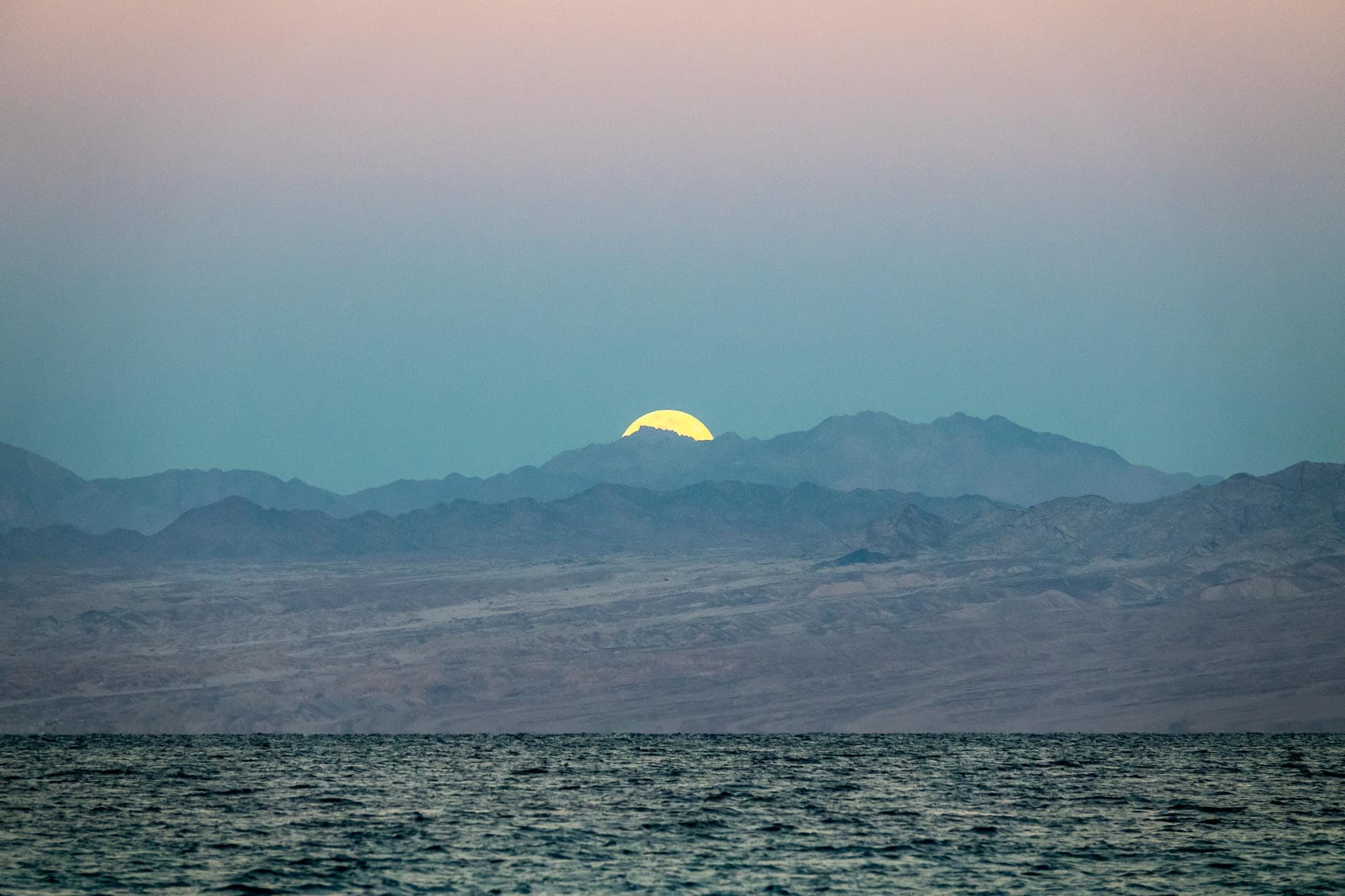 Moonrise over Saudi Arabia. Results of one year of blogging