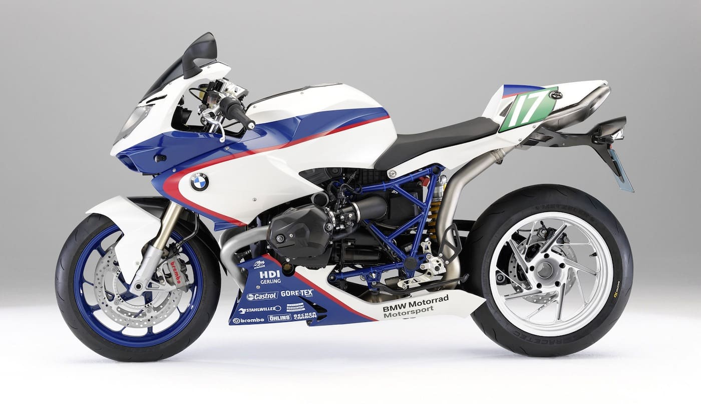 A BMW HP2 Sport, another boxer motorcycle from BMW, successor to the R1200S