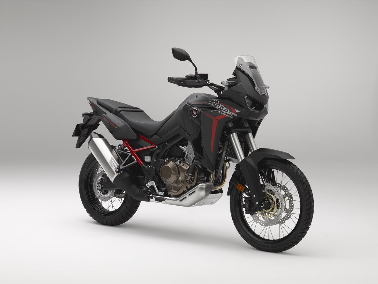 The awesome-looking CRF1100 africa twin in matt black