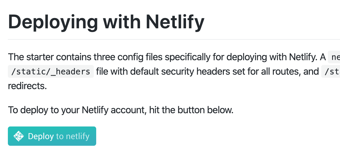 The deploy to netlify button for a ghost and gatsby site