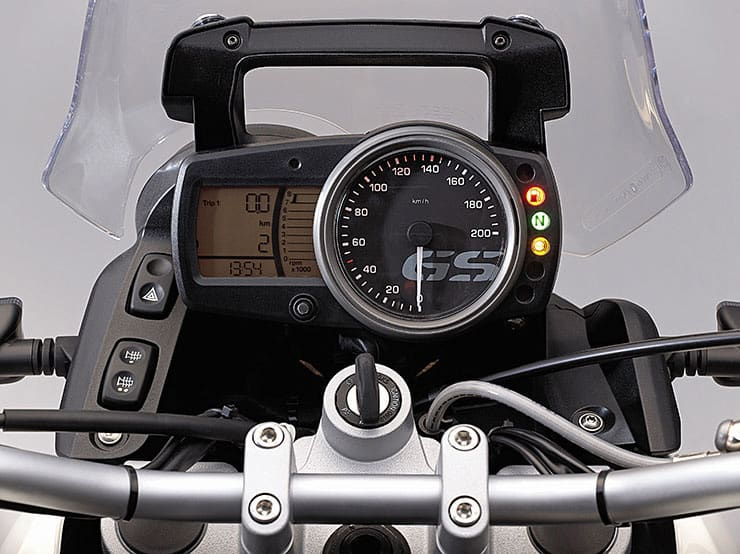 Cockpit of the BMW GS650