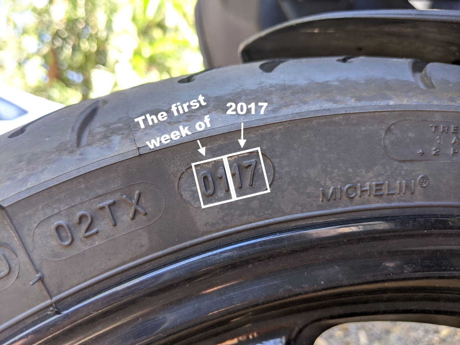 Tyre date DOT codes on my Ducati motorcycle