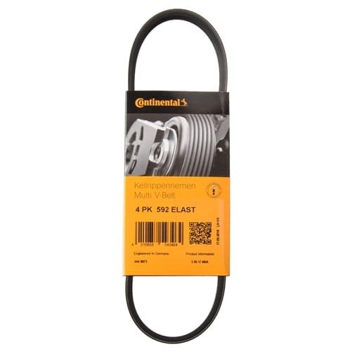 Continental alternator belt for a BMW R1200 engine.