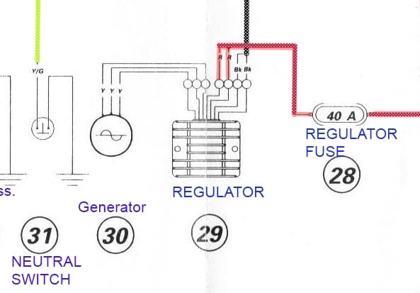 Regulator/Rectifier from Motorcycle Manual
