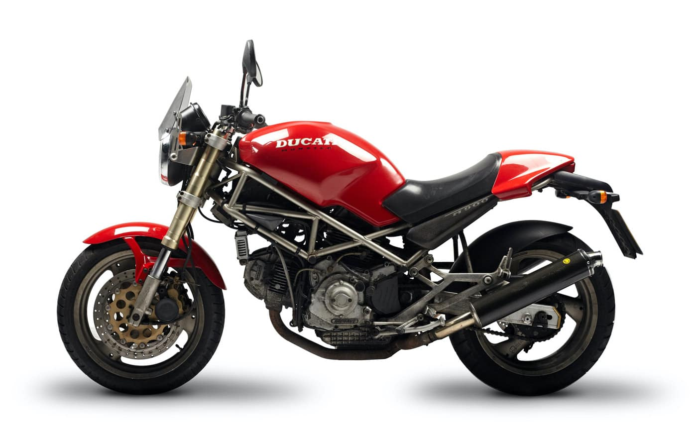 The original Ducati Monster - a red Ducati Monster m900