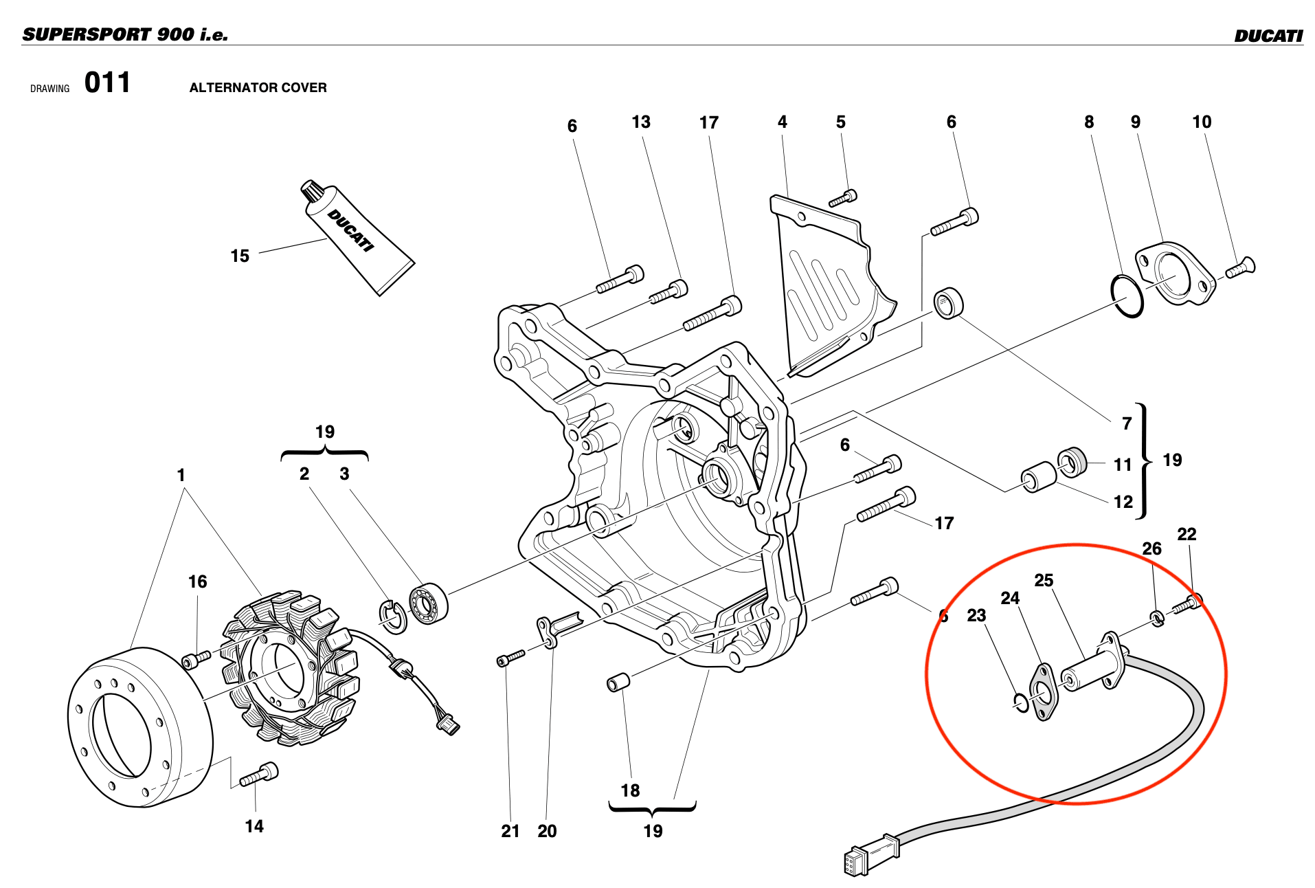 The crankshaft position sensor in my parts catalogue.
