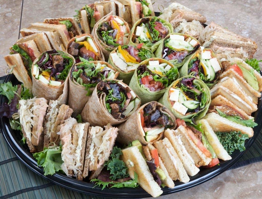 Sandwich platter at Bain & Co