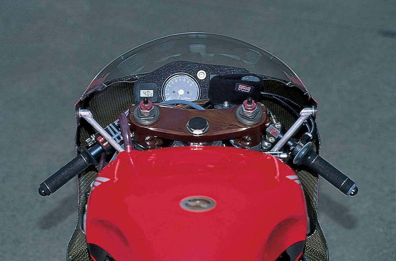 cockpit of a Honda NSR500