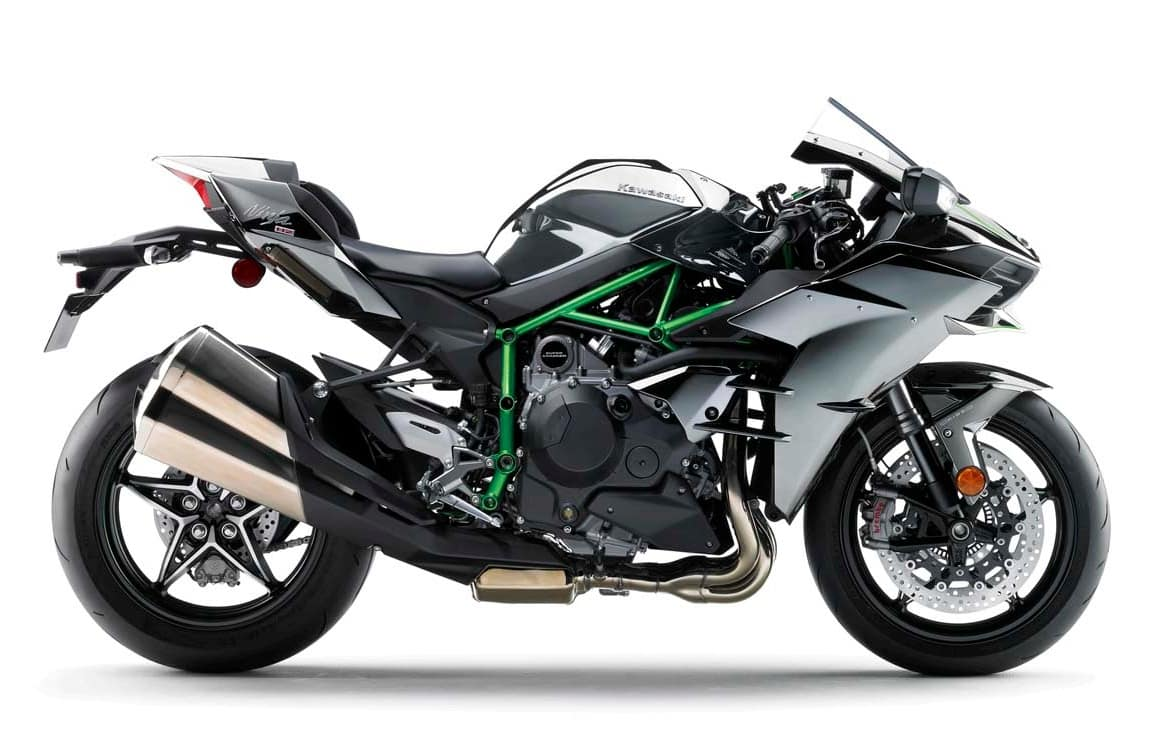2015 Kawasaki Ninja H2 against white background