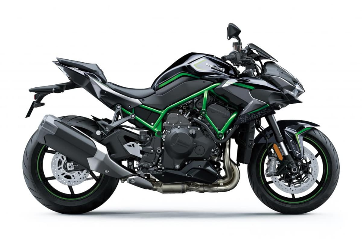 Side-profile picture of the Kawasaki Z H2