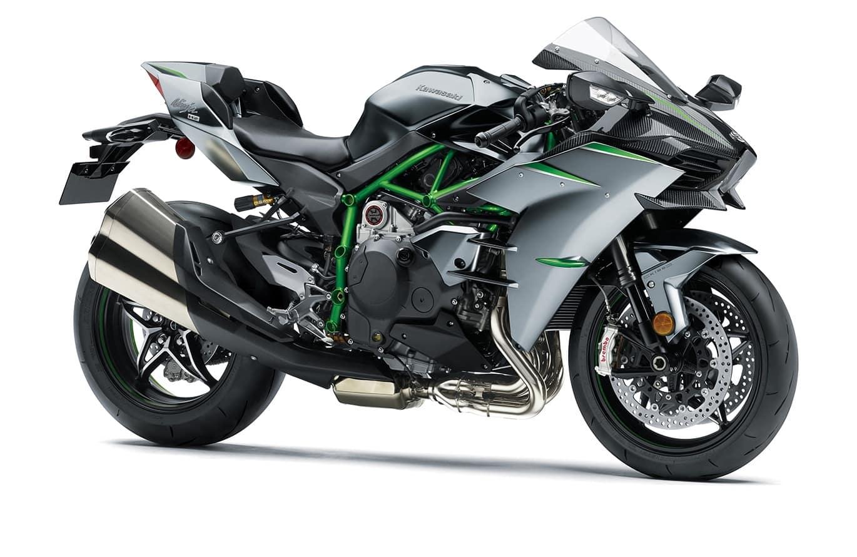Kawasaki H2 carbon with carbon fibre cowl.