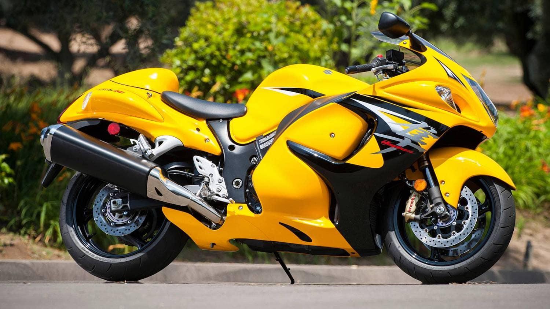 Yellow and black Suzuki Hayabusa
