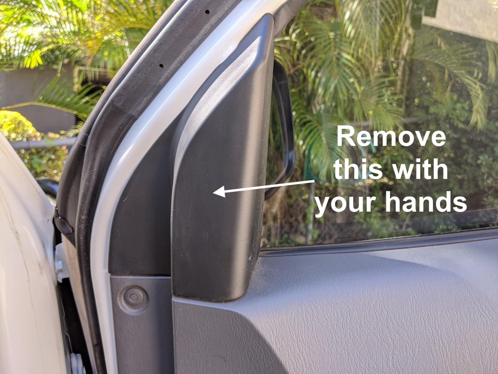 removing mirror on toyota hilux for towing mirrors