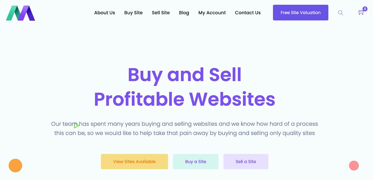 Motion invest website broker screenshot