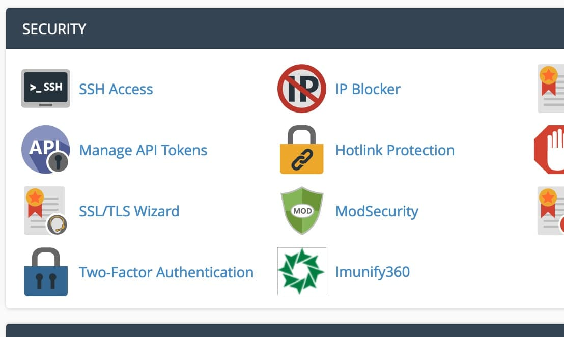 Modsecurity in the CPanel console