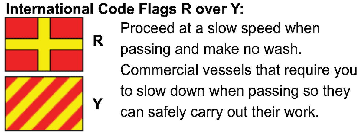 R and Y flags in boating - boatsafe course queensland