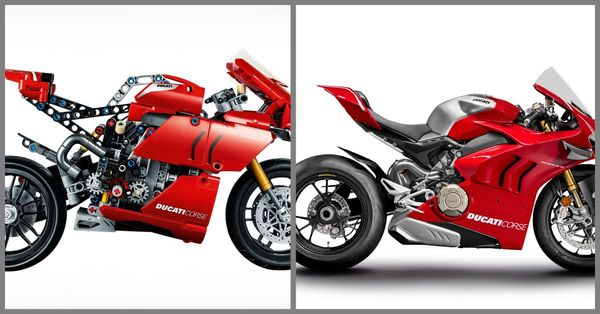 Lego Ducati Panigale V4R vs Actual, Real Panigale